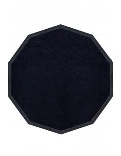 TAPIS PREMIUM NYLON UNI NOIR - DÉCAGONALE 120 x 120cm