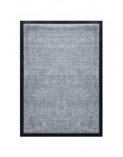 Tapis de porte d'entrée nylon uni gris clair - Rectangulaire 40 x 60cm