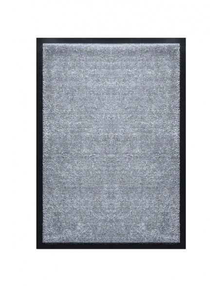 TAPIS DE PORTE D'ENTRÉE - NYLON UNI GRIS CLAIR - Rectangulaire 40 x 60cm
