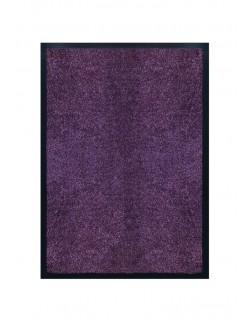 Tapis de porte d'entrée nylon uni violet - Rectangulaire 40 x 60cm