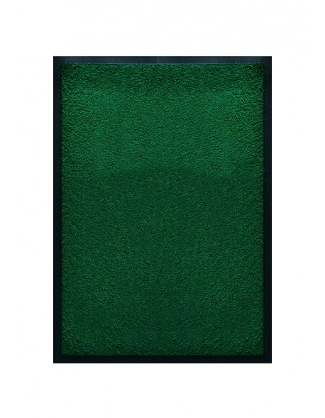 Tapis De Porte D Entree Nylon Uni Vert Rectangulaire 40 X 60cm