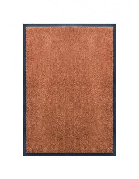 TAPIS DE PORTE D'ENTRÉE - NYLON UNI MARRON CARAMEL - Rectangulaire 40 x 60cm