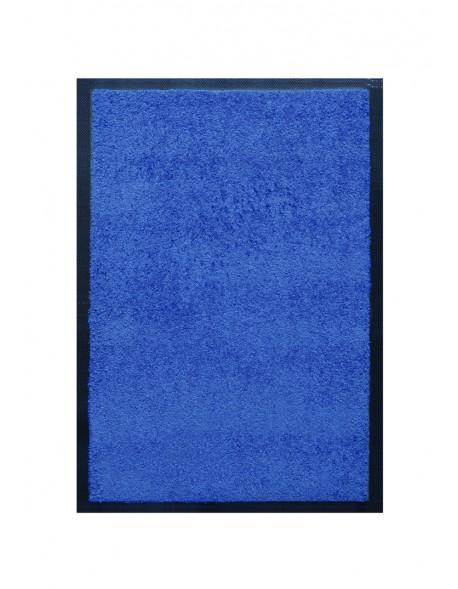 TAPIS DE PORTE D'ENTRÉE - NYLON UNI BLEU - Rectangulaire 40 x 60cm