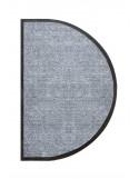 TAPIS D'ENTRÉE DEMI-LUNE - NYLON UNI GRIS CLAIR - 50 x 80cm