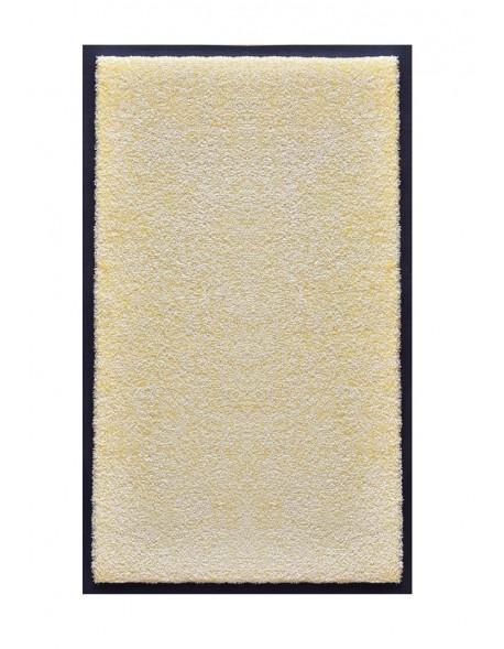 TAPIS DE SALLE DE BAINS - NYLON UNI BLANC CASSÉ - Rectangulaire 50 x 120cm