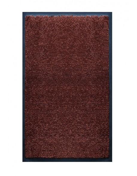TAPIS DE SALLE DE BAINS - NYLON UNI MARRON FONCÉ - Rectangulaire 50 x 120cm