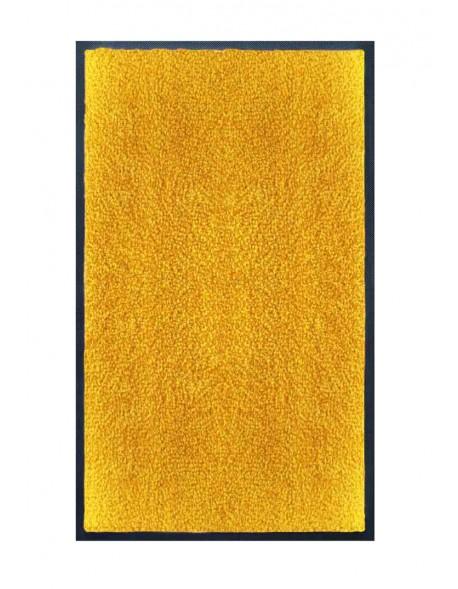 TAPIS DE SALLE DE BAINS - NYLON UNI JAUNE ORANGÉ - Rectangulaire 50 x 120cm