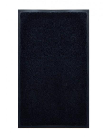 TAPIS DE SALLE DE BAINS - NYLON UNI NOIR - Rectangulaire 50 x 120cm
