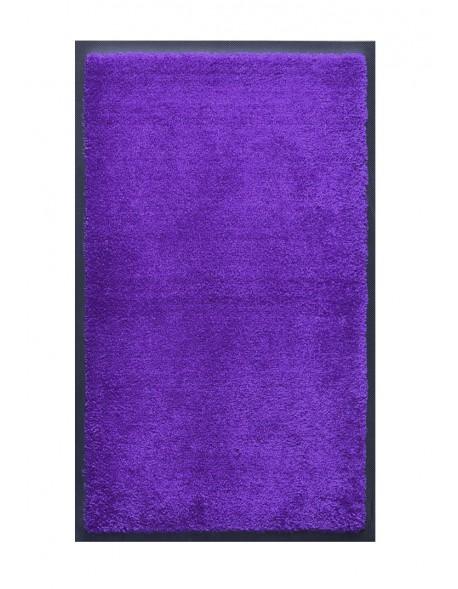 TAPIS DE SALLE DE BAINS - NYLON UNI BLEU REFLETS VIOLET - Rectangulaire 50 x 120cm