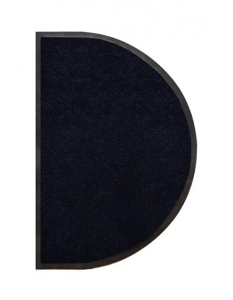 TAPIS D'ENTRÉE DEMI-LUNE - NYLON UNI NOIR - 50 x 80cm