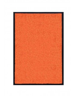 TAPIS DE PORTE D'ENTRÉE - NYLON UNI ORANGE - Rectangulaire 40 x 60cm