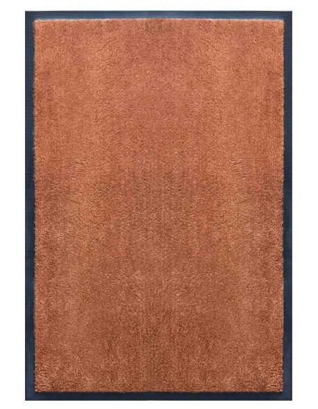 TAPIS D'ACCUEIL - NYLON UNI MARRON CARAMEL - Rectangulaire 60 x 90cm