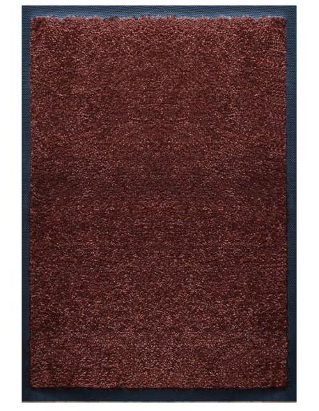 TAPIS D'ACCUEIL - NYLON UNI MARRON FONCÉ - Rectangulaire 60 x 90cm
